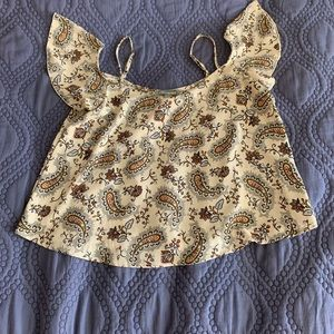 Never been worn AE flowy blouse, paisley print